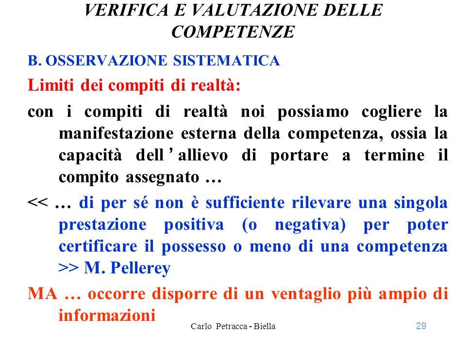 29 VERIFICA E VALUTAZIONE DELLE COMPETENZE B.