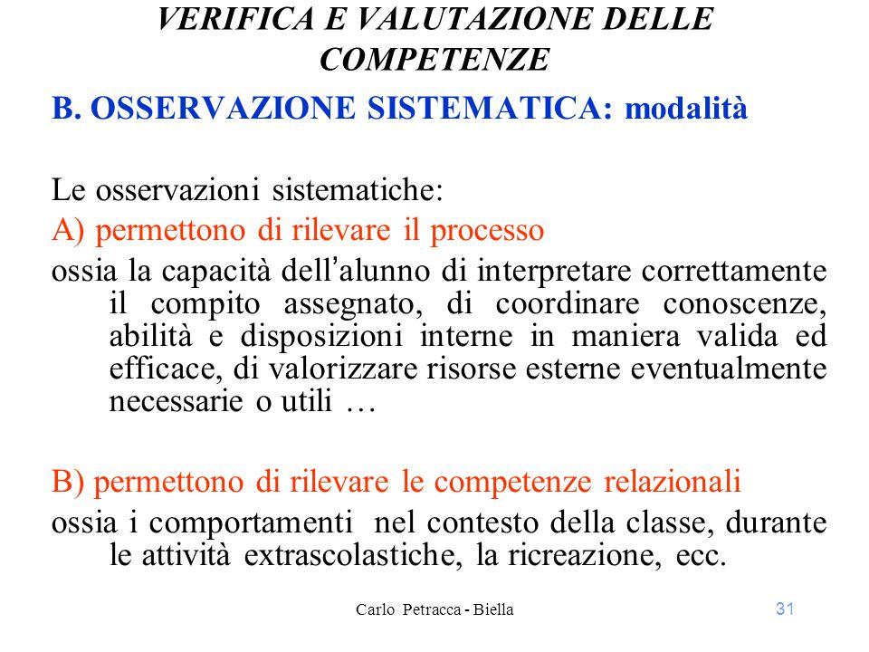31 VERIFICA E VALUTAZIONE DELLE COMPETENZE B.