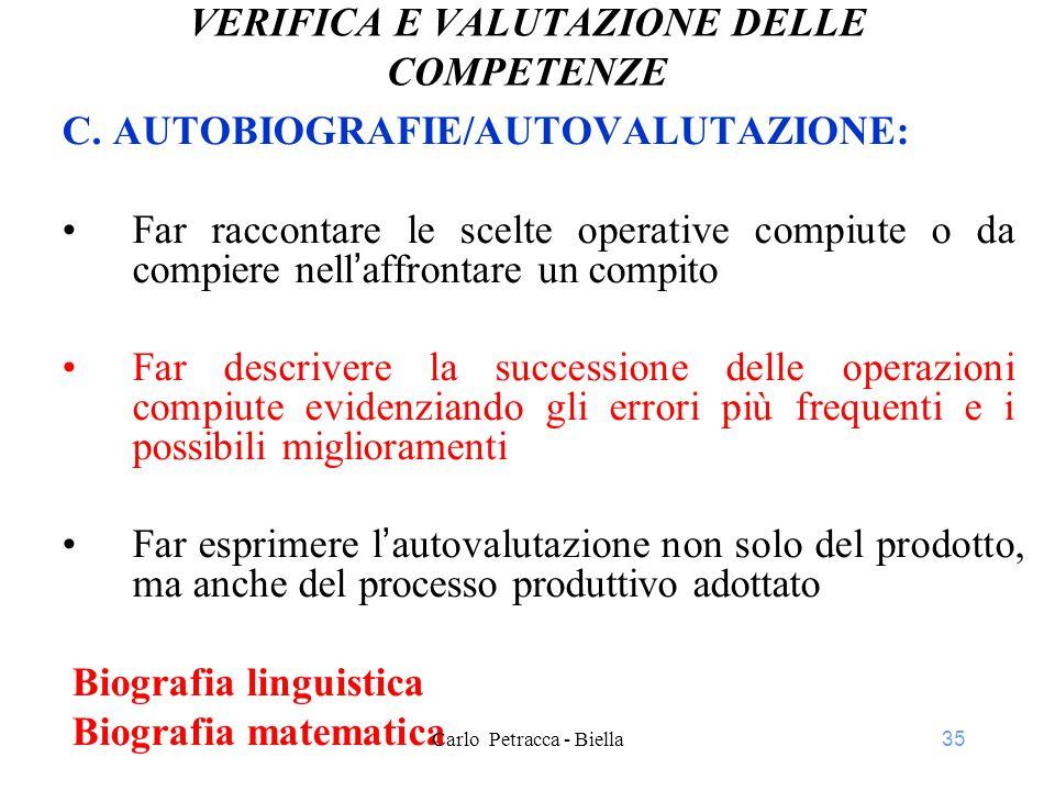 35 VERIFICA E VALUTAZIONE DELLE COMPETENZE C.