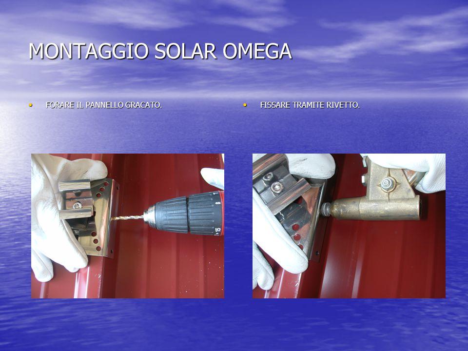 MONTAGGIO SOLAR OMEGA FORARE IL PANNELLO GRACATO. FORARE IL PANNELLO GRACATO.