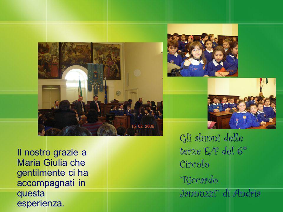 """Il nostro grazie a Maria Giulia che gentilmente ci ha accompagnati in questa esperienza. Gli alunni delle terze E/F del 6° Circolo """"Riccardo Jannuzzi"""""""