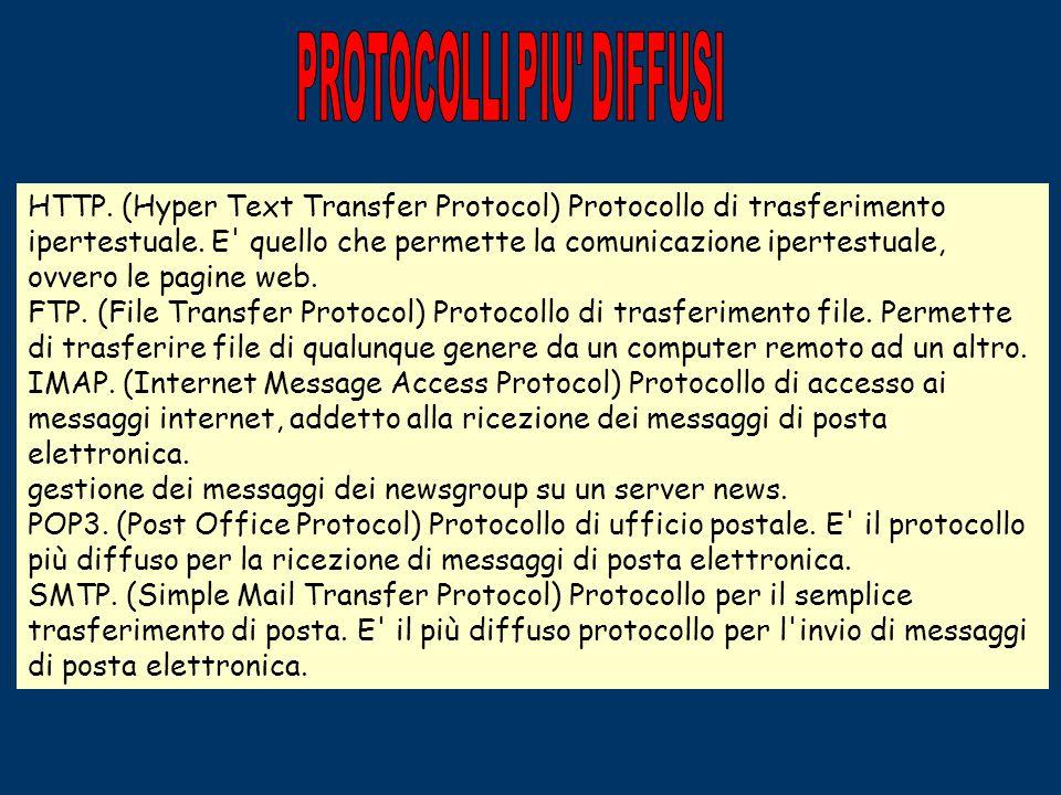 I SERVIZI DELLA RETE I servizi più conosciuti, insieme al WWW, sono la posta elettronica, con la quale è possibile ricevere e inviare messaggi quasi i