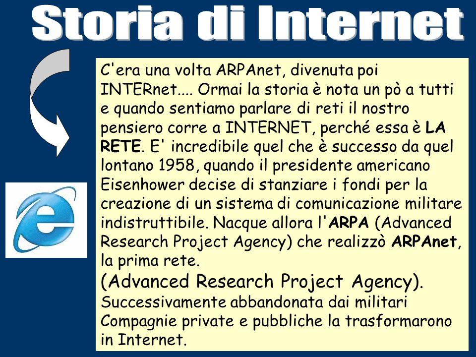 C era una volta ARPAnet, divenuta poi INTERnet....