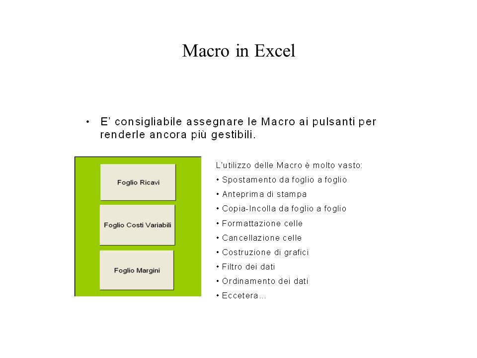 Macro in Excel