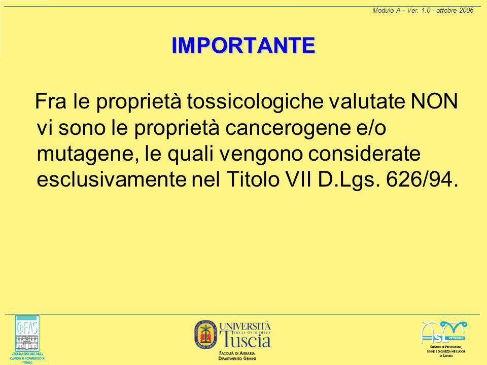 Modulo A - Ver. 1.0 - ottobre 2006 DETERMINAZIONE DELL'INDICE DI ESPOSIZIONE PER VIA INALATORIA (E INAL ) L'indice di esposizione per via inalatoria E