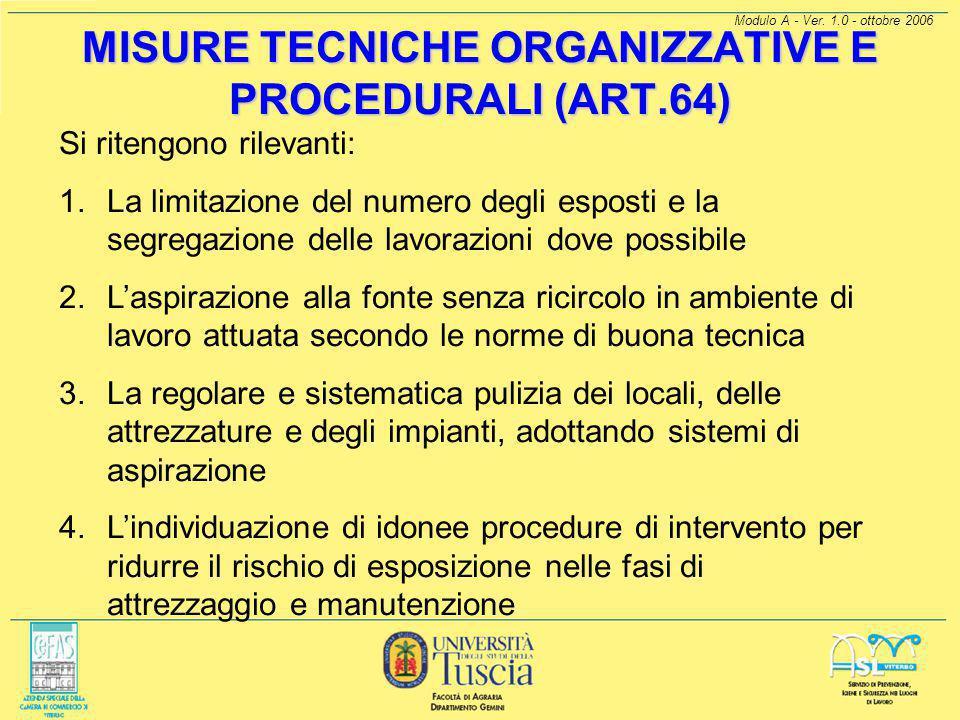 Modulo A - Ver. 1.0 - ottobre 2006 VALUTAZIONE DEL RISCHIO (ARTT. 4 E 63) L'autocertificazione (per aziende fino a 10 dipendenti) si basa sulla dei se