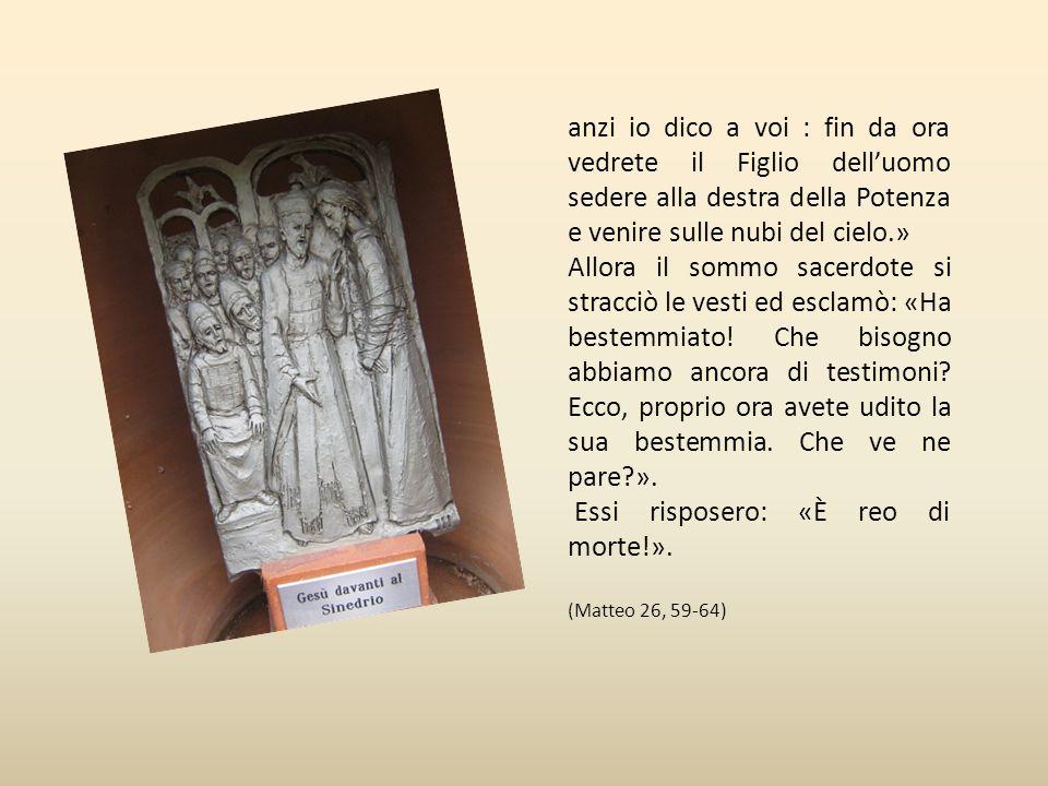 Terza stazione Gesù davanti al sinedrio « I sommi sacerdoti e tutto il sinedrio cercavano qualche falsa testimonianza contro Gesù, per metterlo a mort