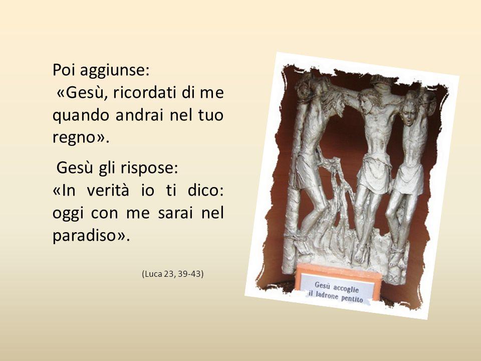 Decima Stazione Gesù accoglie il ladrone pentito Uno dei malfattori che erano stati crocifissi lo insultava: «Non sei tu il Cristo? Salva te stesso e