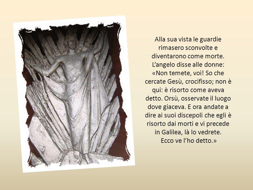 Quattordicesima stazione Gesù risorge «Passato il sabato, al sorgere del primo giorno della settimana, venne Maria Maddalena con l'altra Maria andaron