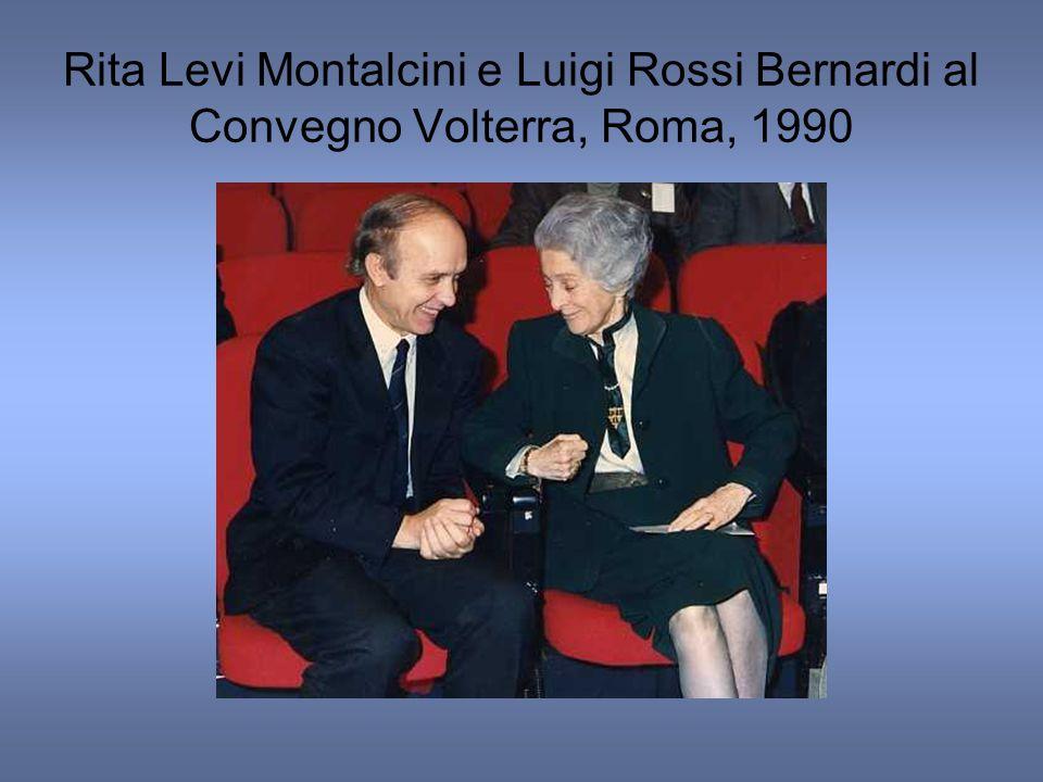 Rita Levi Montalcini e Luigi Rossi Bernardi al Convegno Volterra, Roma, 1990