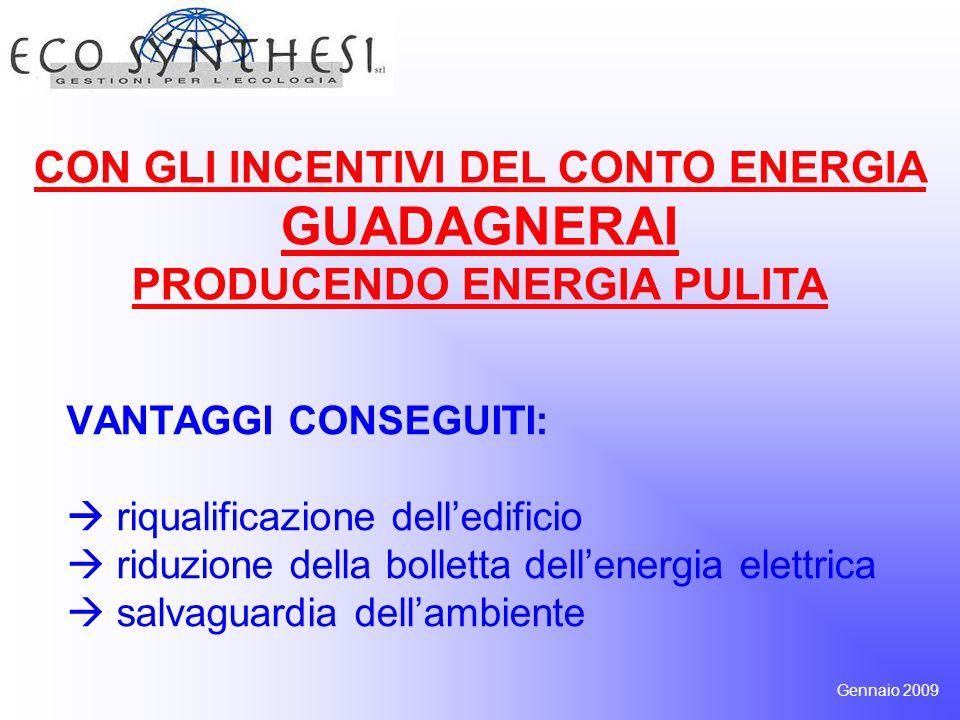 L'energia prodotta viene remunerata da 0,3528 a 0,4802 euro per ogni kW per 20 anni.