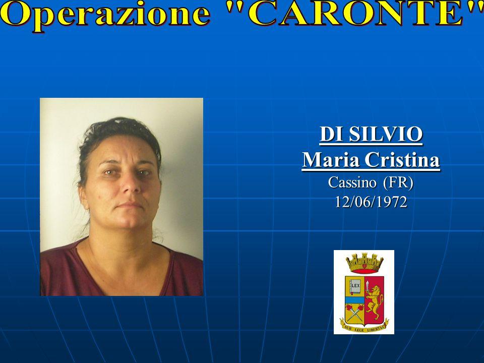 DI SILVIO Maria Cristina Cassino (FR) 12/06/1972