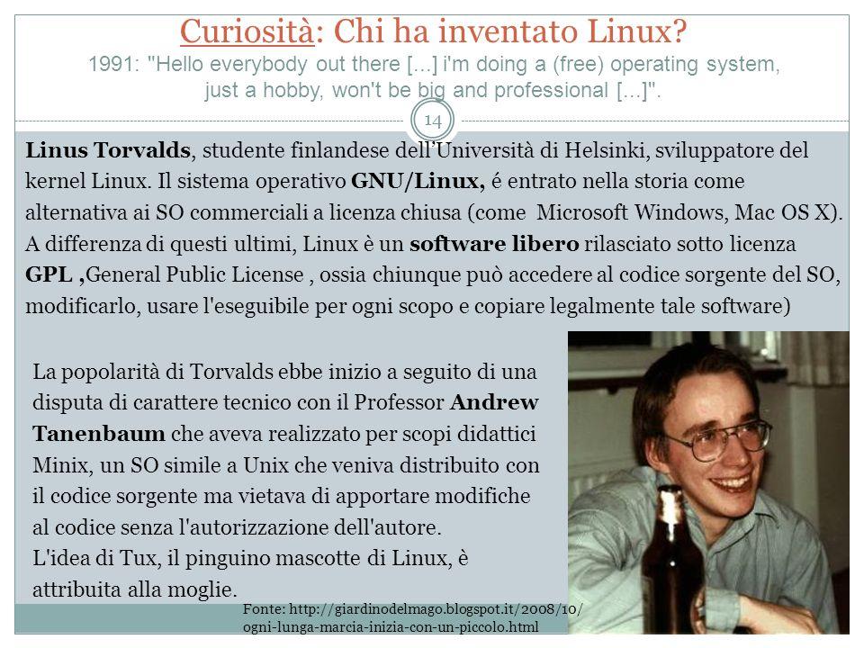 Curiosità: Chi ha inventato Linux.