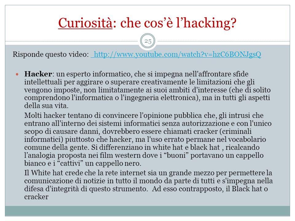 Curiosità: che cos'è l'hacking.