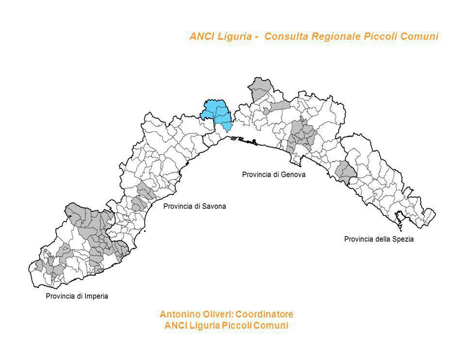 ANCI Liguria - Consulta Regionale Piccoli Comuni Antonino Oliveri: Coordinatore ANCI Liguria Piccoli Comuni