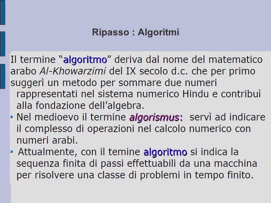 ESERCIZIO Costruire uno schema di risoluzione mediante diagrammi a blocchi che risolva un equazione di primo grado ax+b=0.