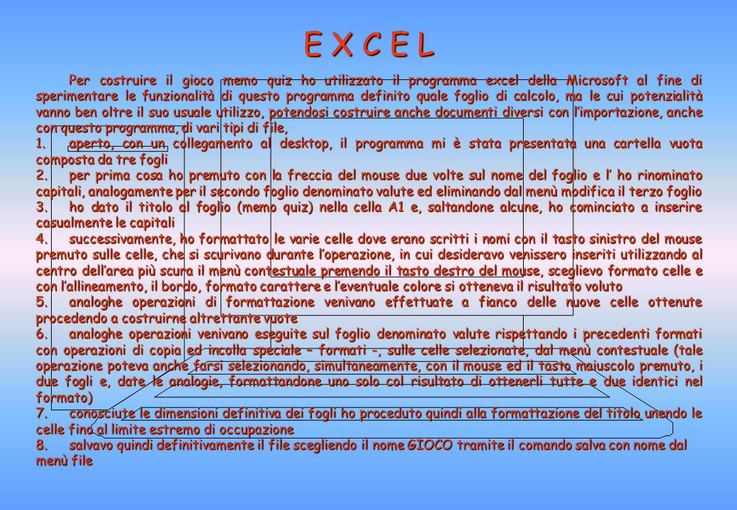 Per costruire il documento ho utilizzato il programma Powerpoint della Microsoft, anche se la stesso operazione poteva essere realizzata in Word, ma c