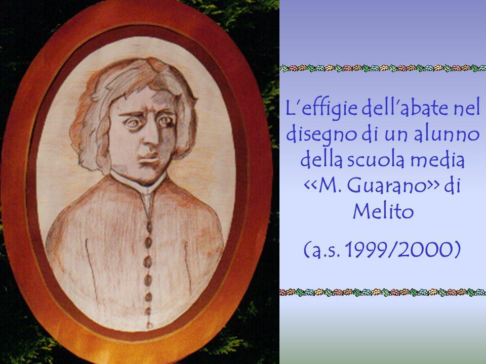 L'effigie dell'abate nel disegno di un alunno della scuola media > di Melito (a.s. 1999/2000)