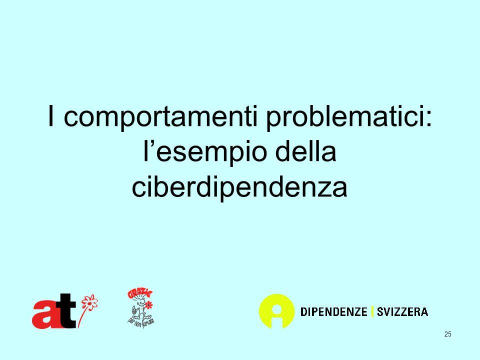 25 I comportamenti problematici: l'esempio della ciberdipendenza