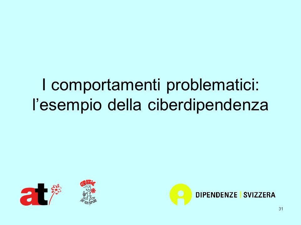 31 I comportamenti problematici: l'esempio della ciberdipendenza