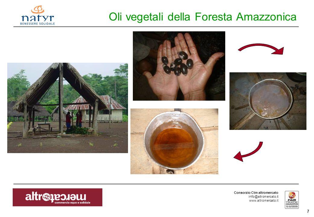 Consorzio Ctm altromercato info@altromercato.it www.altromercato.it 7 Oli vegetali della Foresta Amazzonica