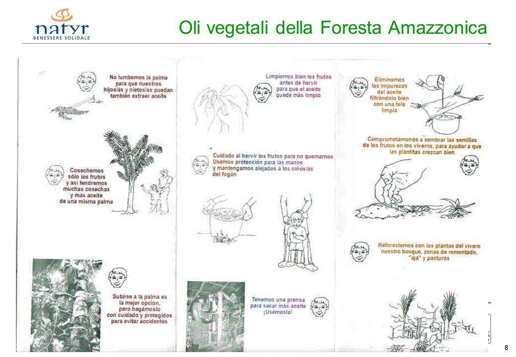 Consorzio Ctm altromercato info@altromercato.it www.altromercato.it 8 Oli vegetali della Foresta Amazzonica