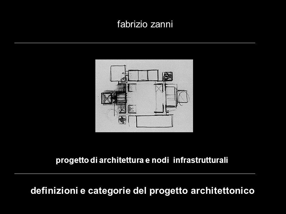 progetto di architettura e nodi infrastrutturali fabrizio zanni definizioni e categorie del progetto architettonico