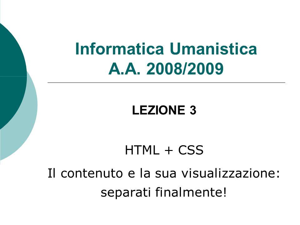 Informatica Umanistica A.A.