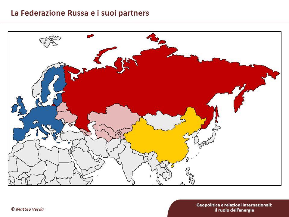 Geopolitica e relazioni internazionali: il ruolo dell'energia La Federazione Russa e i suoi partners © Matteo Verda