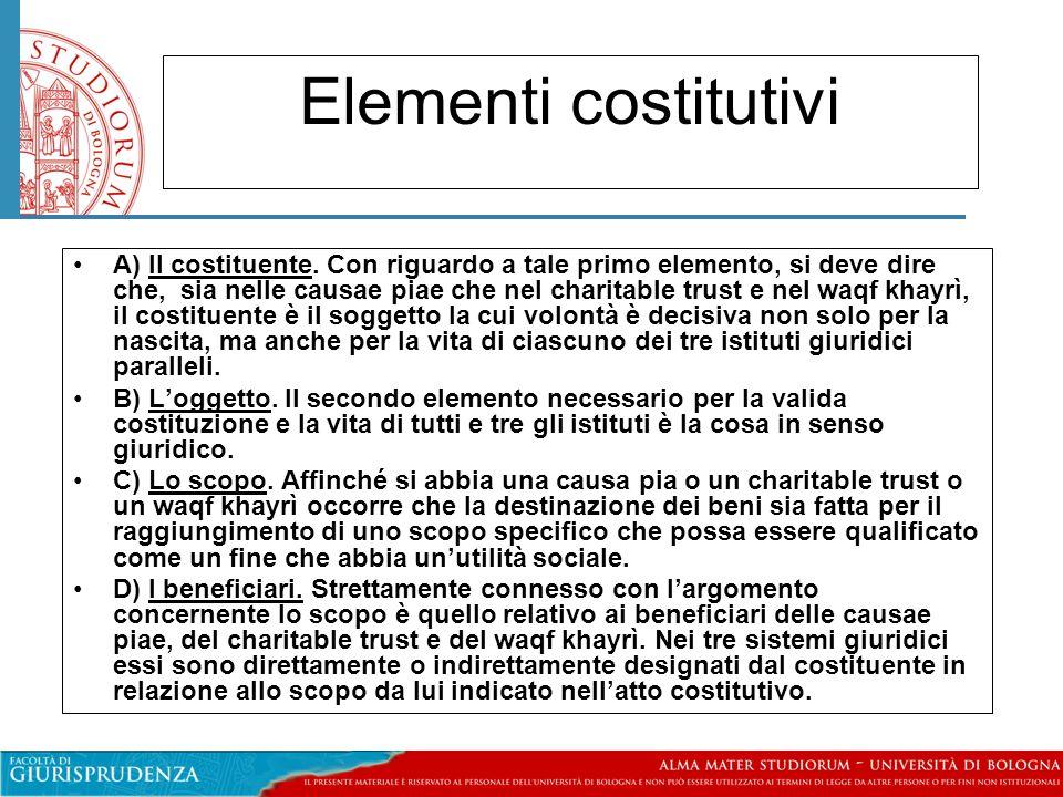Elementi costitutivi A) Il costituente.