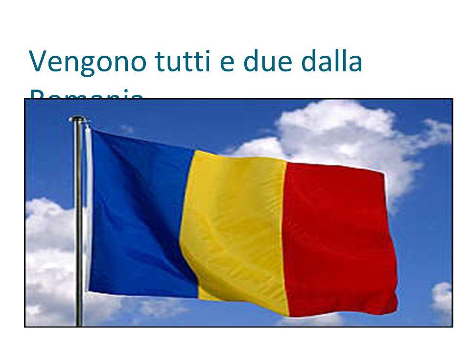 Vengono tutti e due dalla Romania.