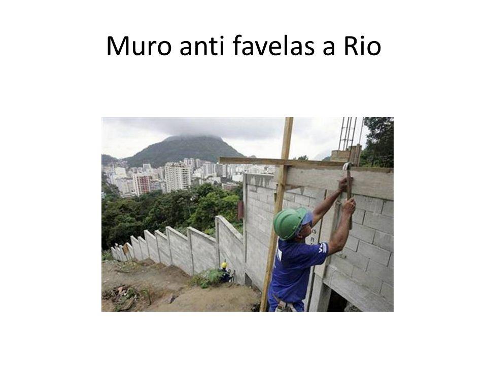 Muro anti favelas a Rio