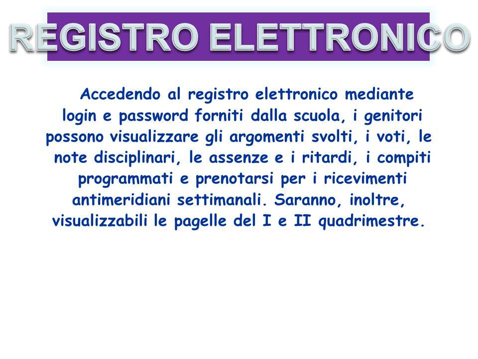 Accedendo al registro elettronico mediante login e password forniti dalla scuola, i genitori possono visualizzare gli argomenti svolti, i voti, le not