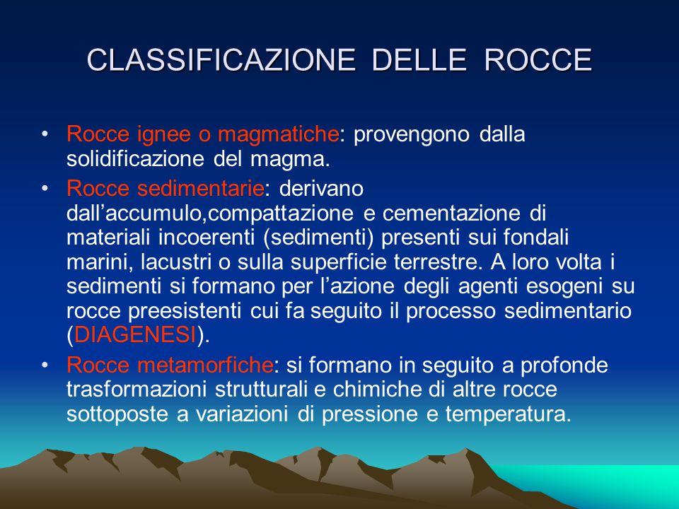 LE ROCCE Le rocce sono aggregati di minerali nate ciascuna da processi geologici diversi, presenti nella litosfera. Le rocce semplici sono formate da