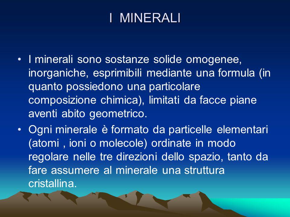 GEOLOGIA (studio della litosfera) MINERALOGIA (studio dei minerali) PETROGRAFIA ( studio delle rocce)