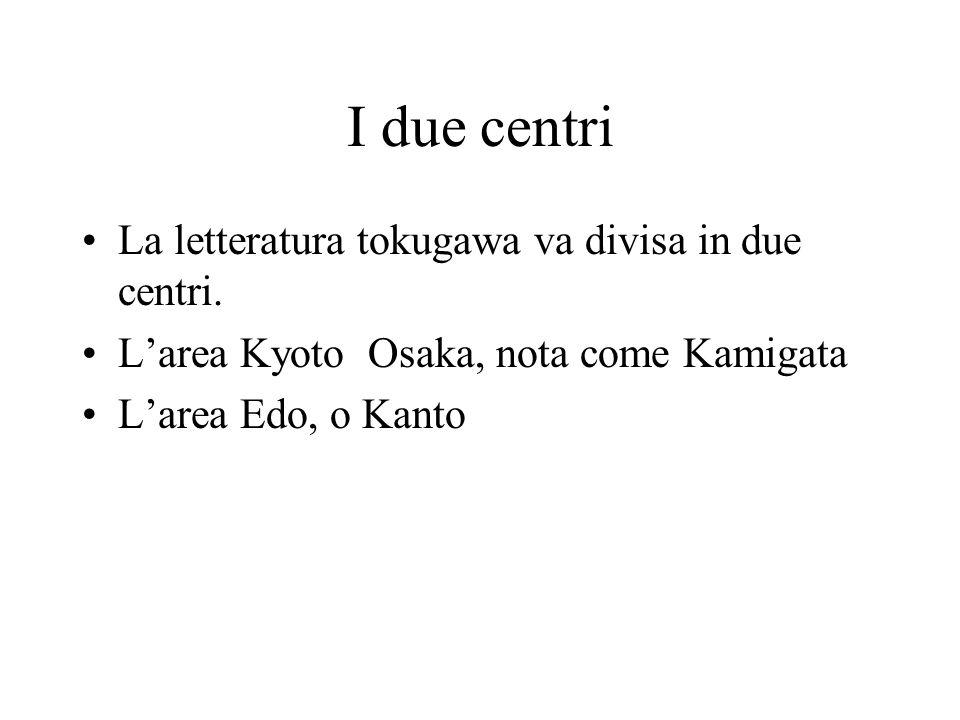 Letteratura popolare Una seconda caratteristica era che: la letteratura Tokugawa fu una letteratura esclusivamente in stampa.