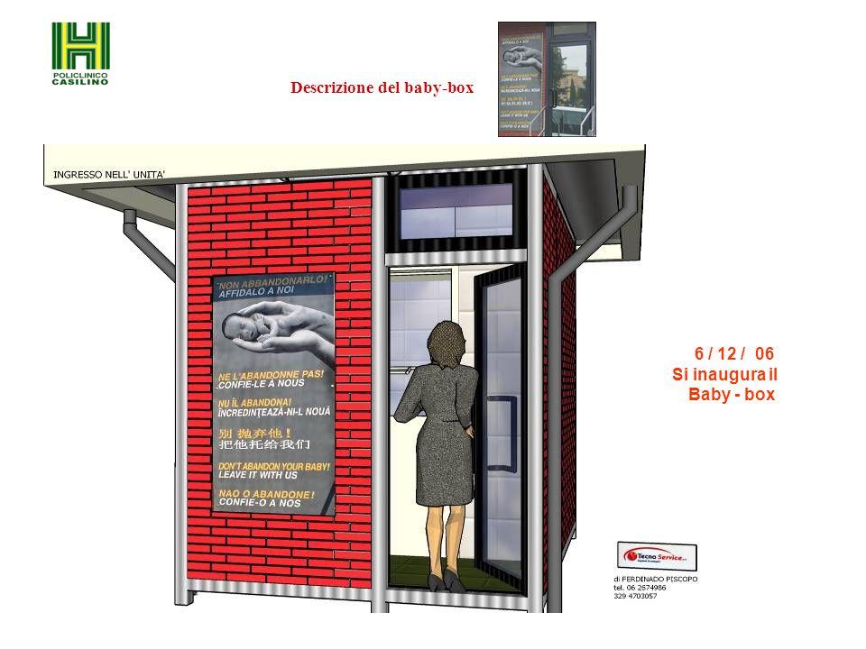 6 / 12 / 06 Si inaugura il Baby - box