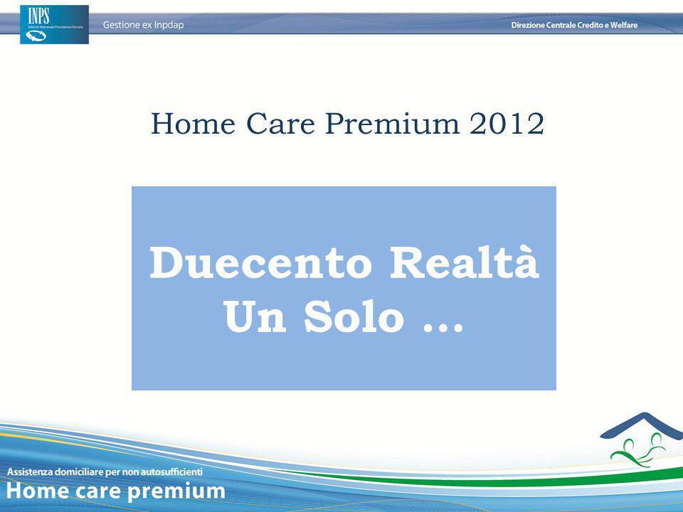 Duecento Realtà Un Solo … Home Care Premium 2012