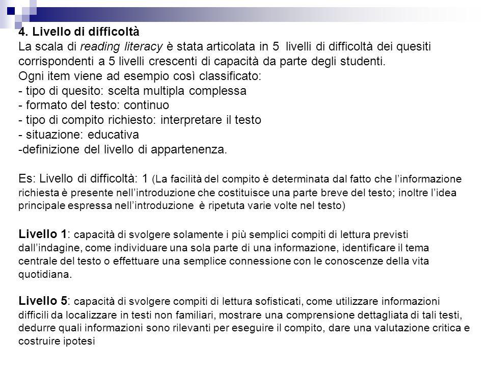 I componenti principali della valutazione della mathematical literacy sono: 1.