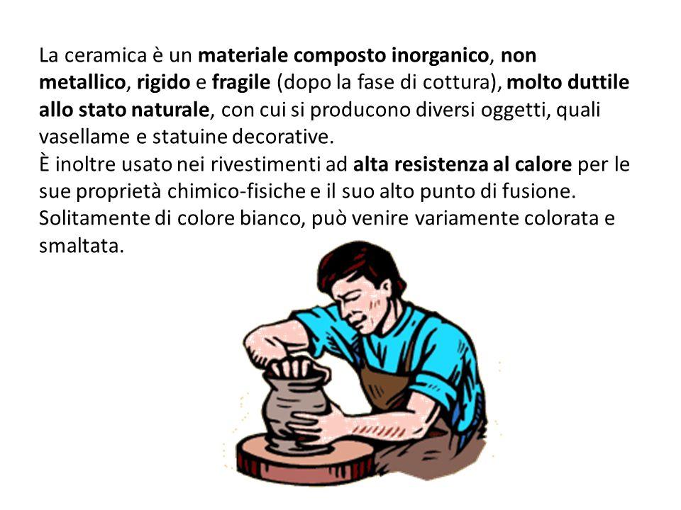 La ceramica è un materiale composto inorganico, non metallico, rigido e fragile (dopo la fase di cottura), molto duttile allo stato naturale, con cui
