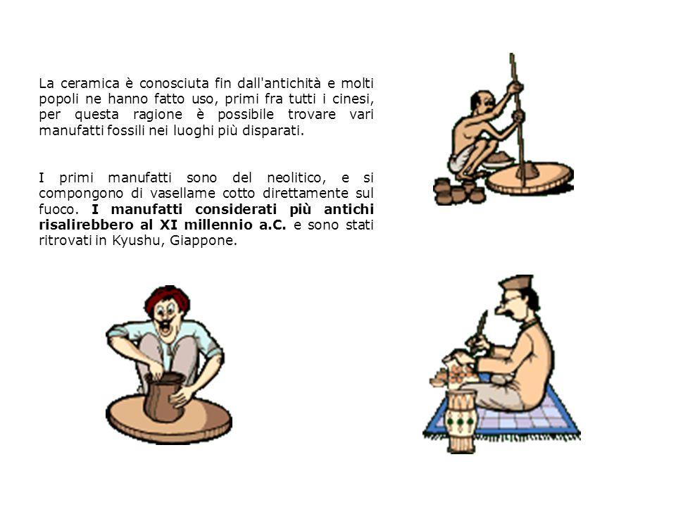 La ceramica è conosciuta fin dall'antichità e molti popoli ne hanno fatto uso, primi fra tutti i cinesi, per questa ragione è possibile trovare vari m