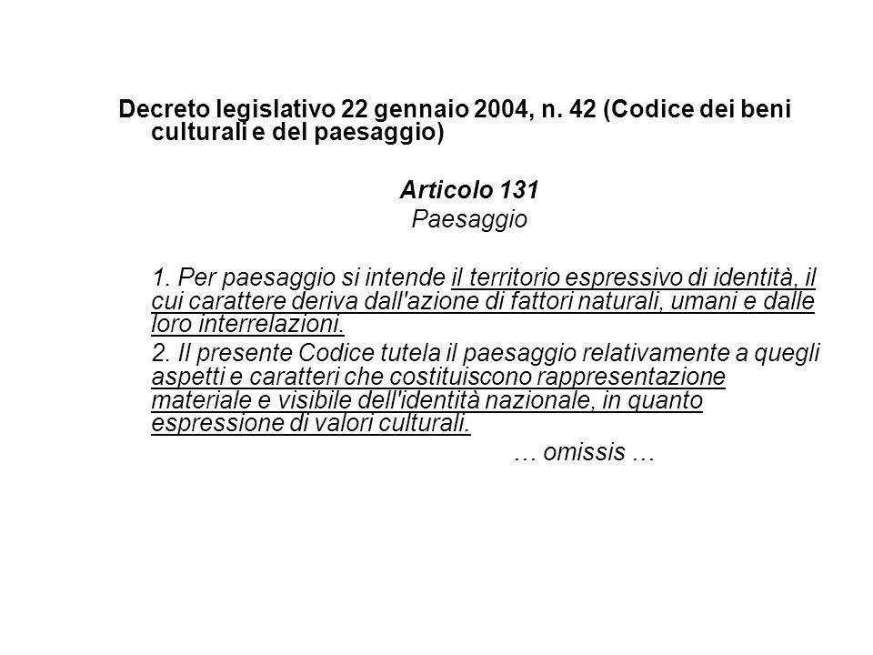 Decreto legislativo 22 gennaio 2004, n.