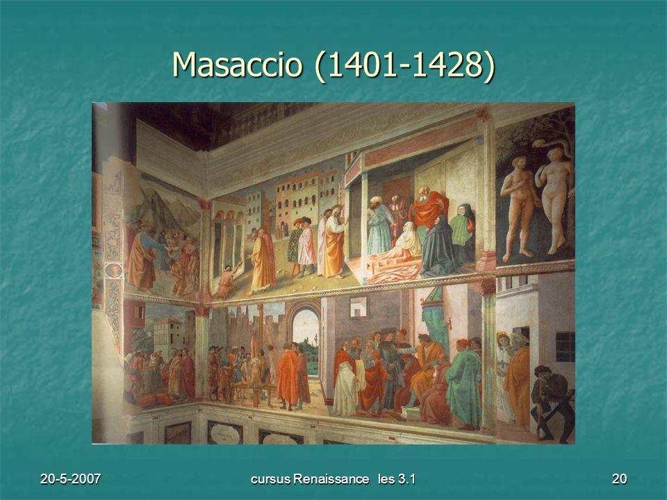 20-5-2007cursus Renaissance les 3.120 Masaccio (1401-1428)