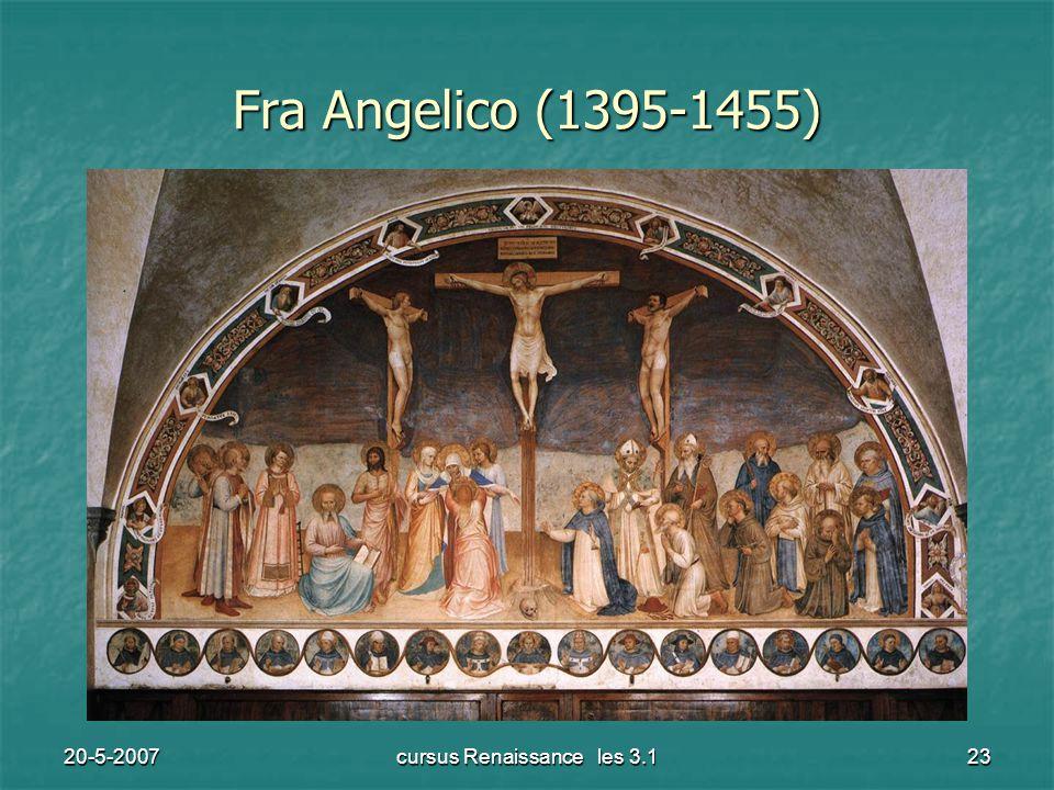 20-5-2007cursus Renaissance les 3.123 Fra Angelico (1395-1455)