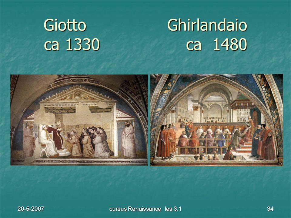 20-5-2007cursus Renaissance les 3.134 Giotto Ghirlandaio ca 1330 ca 1480