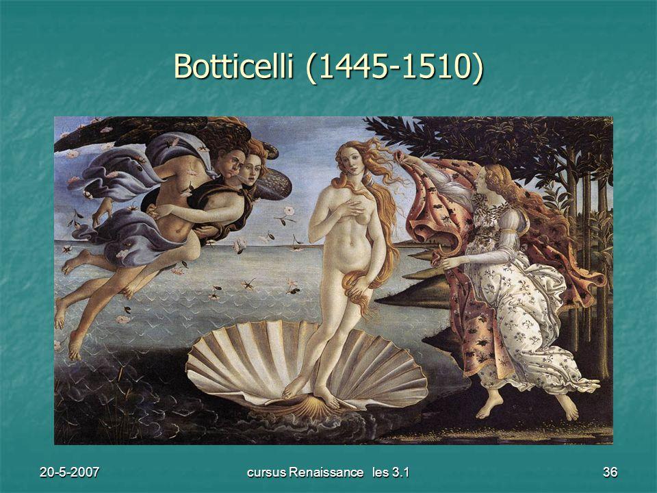 20-5-2007cursus Renaissance les 3.136 Botticelli (1445-1510)