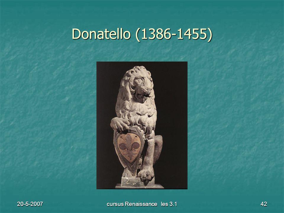 20-5-2007cursus Renaissance les 3.142 Donatello (1386-1455)