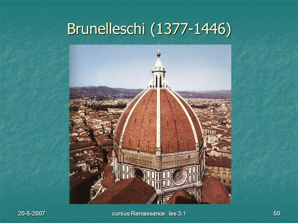 20-5-2007cursus Renaissance les 3.150 Brunelleschi (1377-1446)