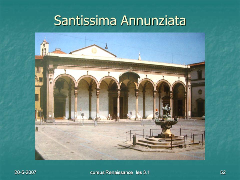 20-5-2007cursus Renaissance les 3.152 Santissima Annunziata