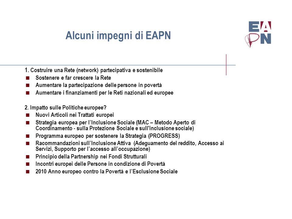 Alcuni impegni di EAPN 1.
